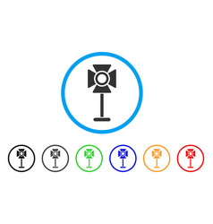 spotlight rack rounded icon vector image
