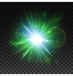 Transparent green light effect for art design vector