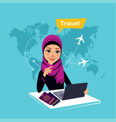 Travel agency banner with charactertravel concept vector