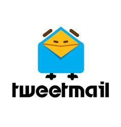 Tweet mail design vector
