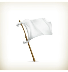 White flag vector image