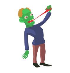 Zombie icon cartoon style vector