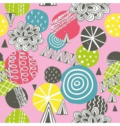 Seamless background in pink colors vector image