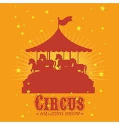 Circus entertainment amazing show vector