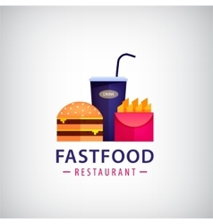 Fastfood restaurant cafe colorful logo vector