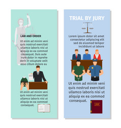 Jury and order concept flyers design vector