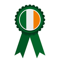 st patrick day rosette icon isolated vector image