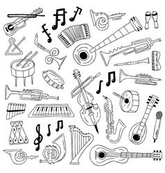 jazz - doodles vector image