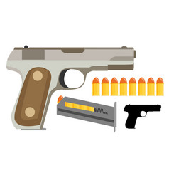 Gun icon flat vector