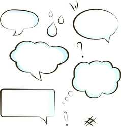 Comic book speech bubble symbol vector