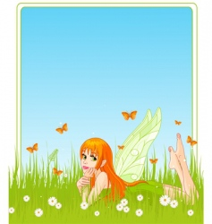 fairy place card vector image