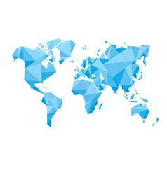 Abstract world map - vector