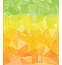 Green yellow orange polygons vector