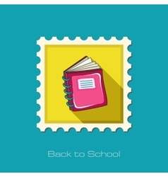 Notebook flat stamp vector