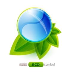 eco nature concept vector image