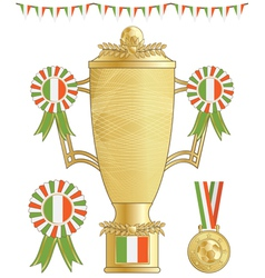 Ireland football trophy vector