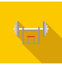 Barbell holder icon flat style vector