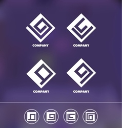 Abstract geometric logo icon set vector image vector image