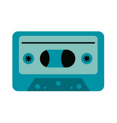 Audio cassette icon image vector
