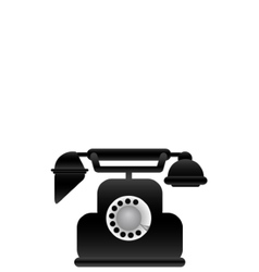 black classical phone vector image