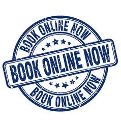 Book online now stamp vector