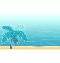 Card with palm trees for your design vector