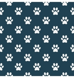 Cat of dog paw pattern vector image