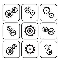 Cogs - Gears Set Isolated on White Background vector image vector image