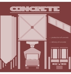 Concrete production vector image vector image