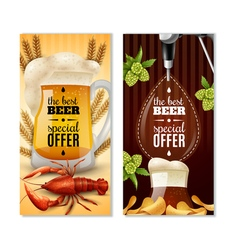 Dark light beer 2 vertical banners set vector