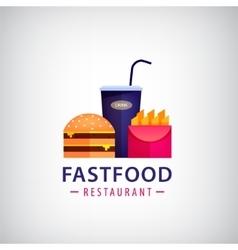 fastfood restaurant cafe colorful logo vector image