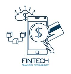 Fintech investment financial internet technology vector