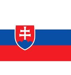 Flag of slovakia icon vector