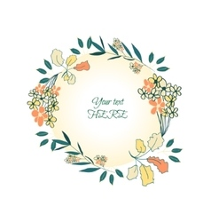 floral bouquet wreath vector image vector image