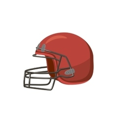 Football helmet with face mask icon cartoon style vector