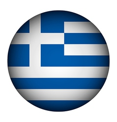 Greece flag button vector image