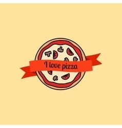 I love pizza icon vector
