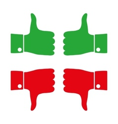 Icons thumbs down and up vector
