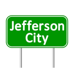 Jefferson city green road sign vector