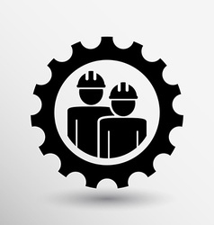 Mechanics working icon button logo symbol concept vector image