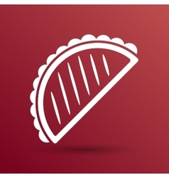 Mexican fast food logo design template vector