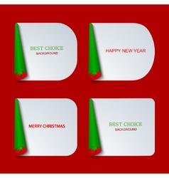 modern christmas banners set vector image