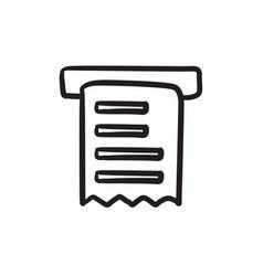 Receipt sketch icon vector