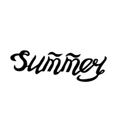 summer- isolated hand drawn lettering vector image