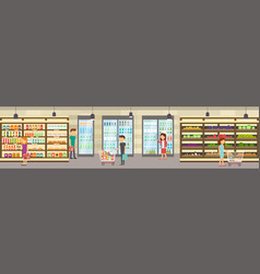 supermarket store with goods vector image vector image