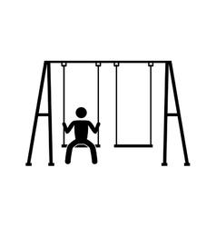 Swing children game icon vector