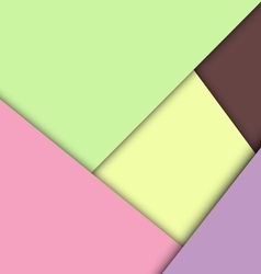Colorful overlap layer paper material design vector