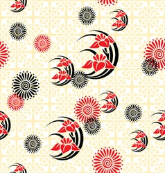 Japan floral background vector