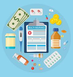 Health medical insurance form vector