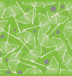 gingko biloba seamless background pattern vector image